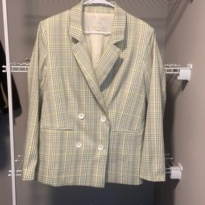 Urban Outfitters Green & Yellow Blazer Sz Medium